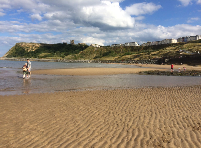 Scarborough's North Bay Beach and Scarborough Castle